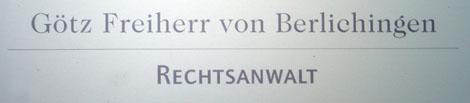 Rechtsanwalt Götz von Berlichingen
