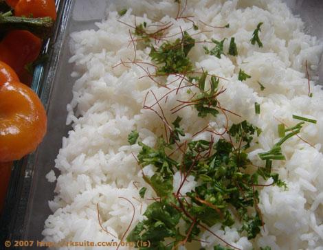 Gedämpfter Reis