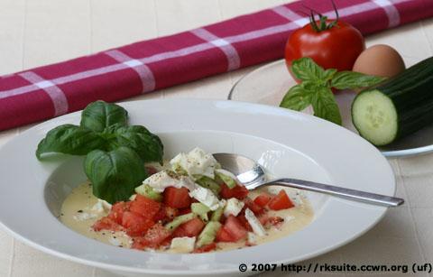 Salat nach Gazpacho-Art