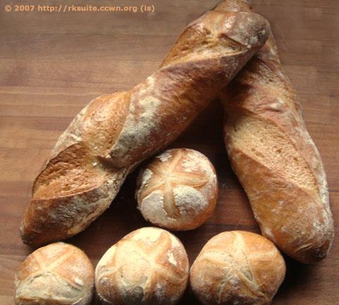 Brot mit Weinteig