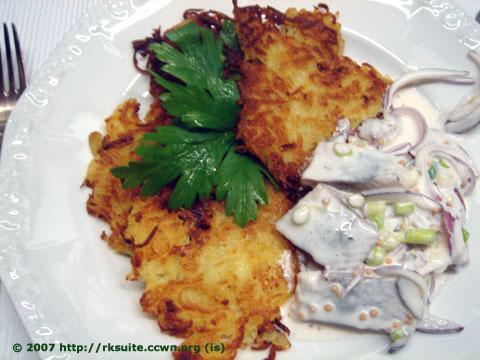 Matjes mit Kartoffelpuffern