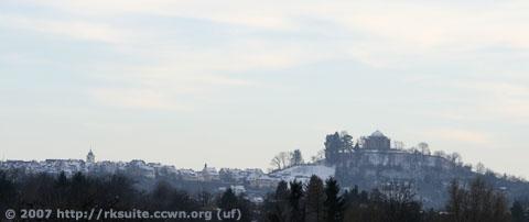 Grabkapelle und Ort Rotenberg