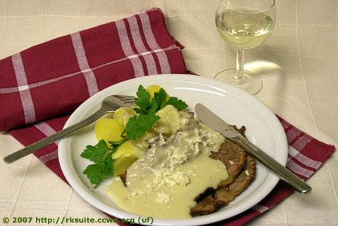 Siedfleisch mit Meerrettichsauce und Salzkartoffeln