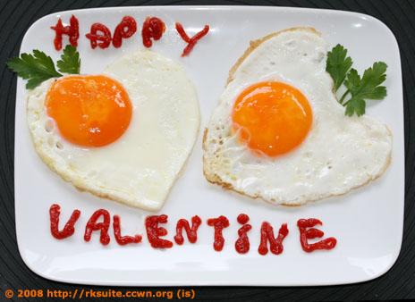 Valentine's eggs - Valentins-Eier