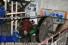 Maschinenraum mit Turbine und Antrieb