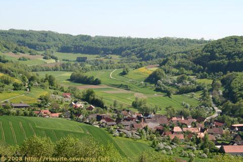 Blick von Langenburg auf Bächlingen