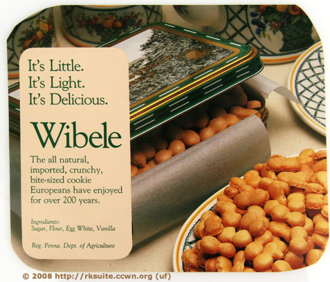 Wibele-Beschreibung auf Englisch