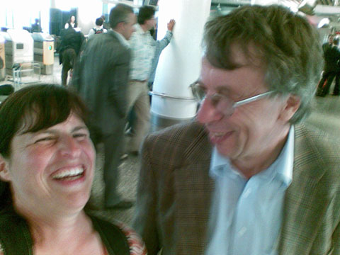 Barbara und Ulli auf dem Frankfurter Flughafen