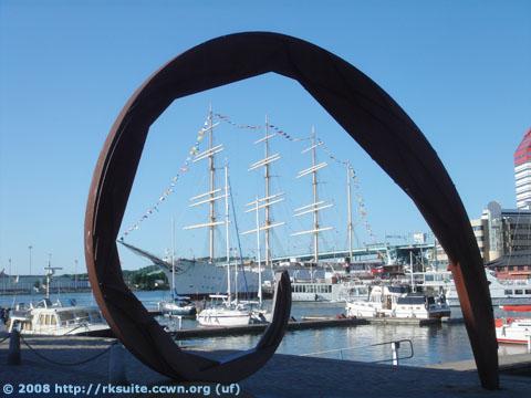 Restaurantschiff im Göteborger Hafen