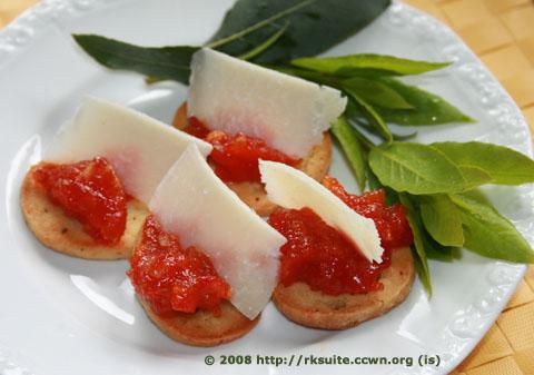 Lorbeer-Chili-Parmesan-Kekse