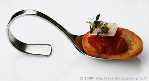Parmesan-Lorbeer-Chili-Kekse mit Tomaten-Chili-Konfitüre