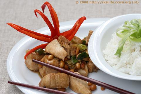 Chili-Hühnchen mit Erdnüssen
