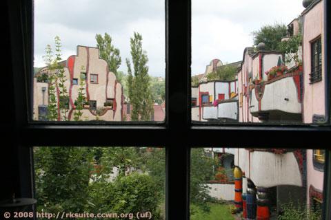 Hundertwasserhaus Plochingen von der Küche