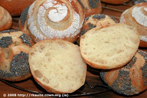 Brötchen nach Bäcker Süpke im Anschnitt