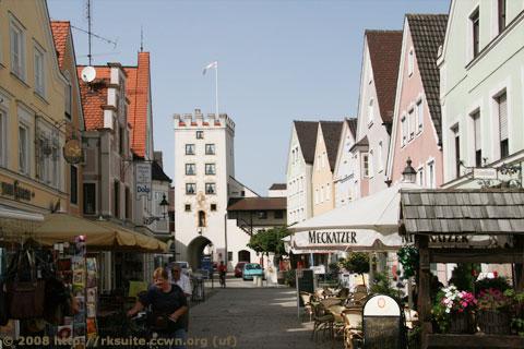 Fußgängerzone in Mindelheim