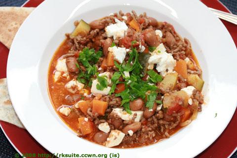 Chili con Carne mit Schafskäse