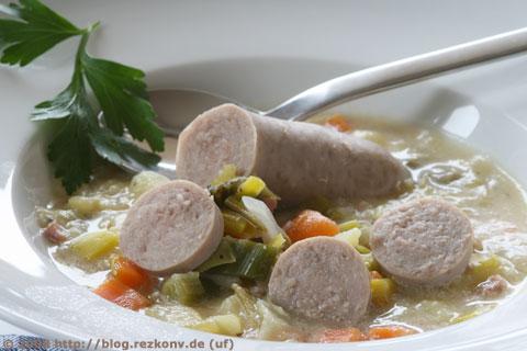 Gemüsesuppe mit Wurst - F11 | 1,6sec