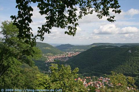 Echaz-Tal und Achalm (in Bildmitte)