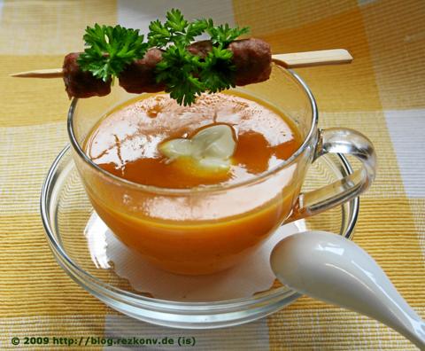 Kürbissuppe mit Merguez