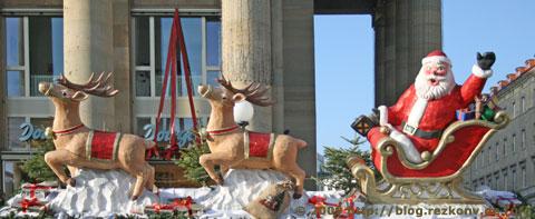Weihnachtsmann auf dem Stuttgarter Weihnachtsmarkt