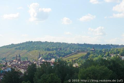 Altstadt der alten Reichsstadt Esslingen am Neckar mit der Burg