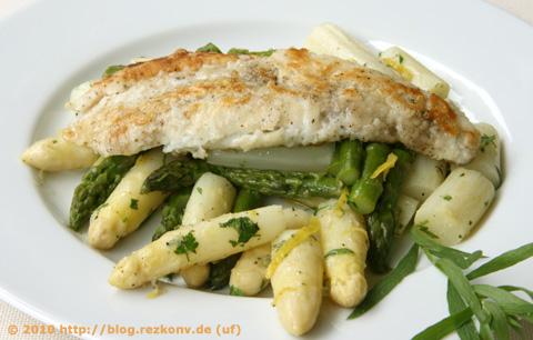 Spargel-Zitronen-Salat mit Zanderfilet