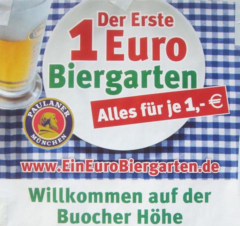 Der Erste 1 Euro Biergarten