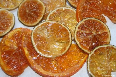 Kandierte Zitrusfrüchte